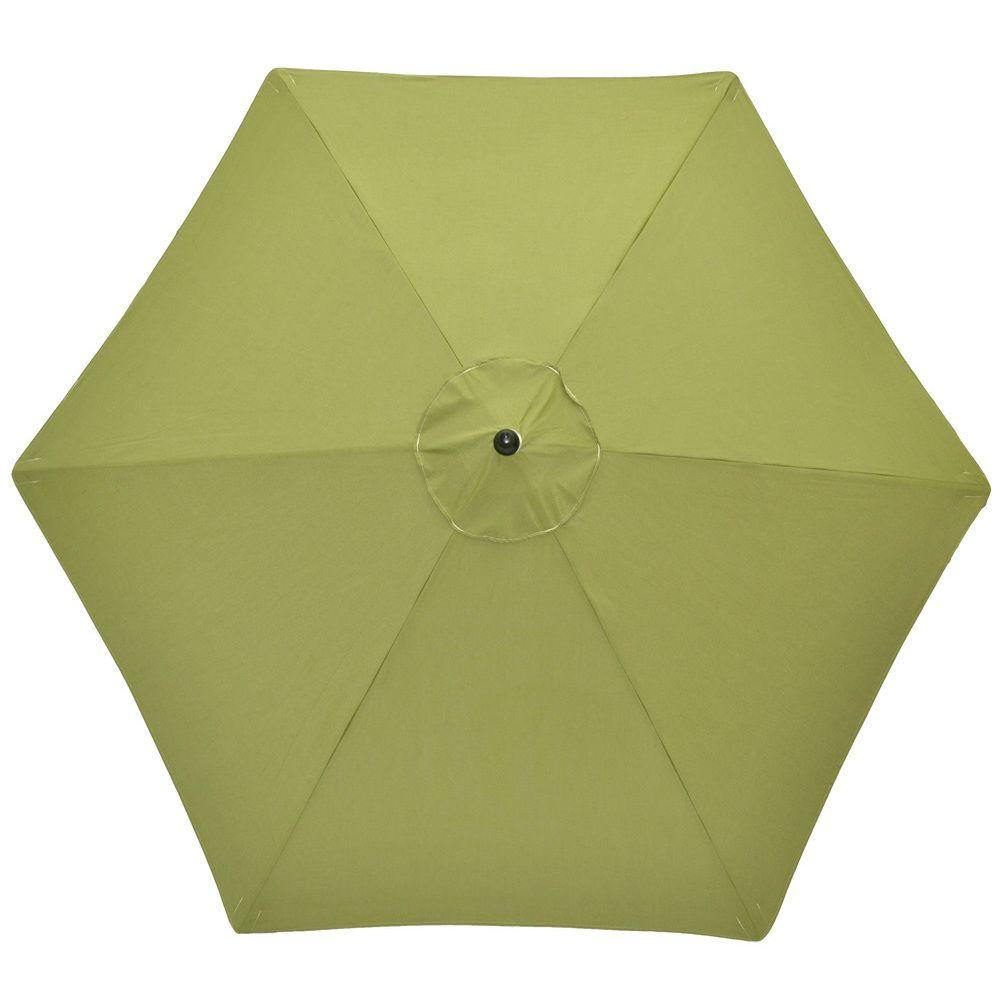 Hampton Bay 9 ft. Aluminum Patio Umbrella in Spectrum Cilantro Sunbrella-DISCONTINUED