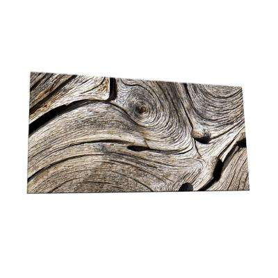 Peel and Stick Wooden Swirl Shades Glass Wall Tile - 6 in. x 3 in. Tile sample