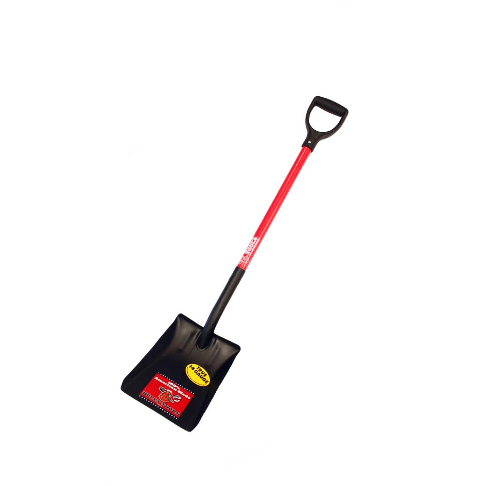 14-Gauge Square Point Shovel with Fiberglass D-Grip Handle