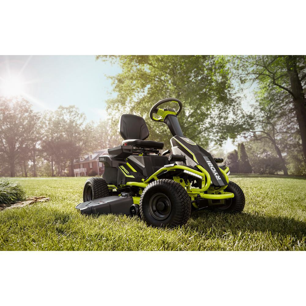 RYOBI Electric Riding Lawn Mower Best Riding Lawn Mower For Hills