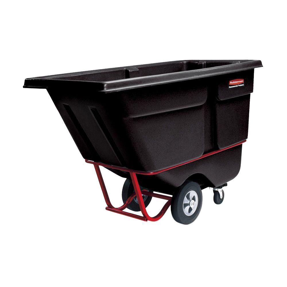 Rubbermaid Commercial Products 1 cu. yd. Heavy Duty Rotational Molded Tilt Truck