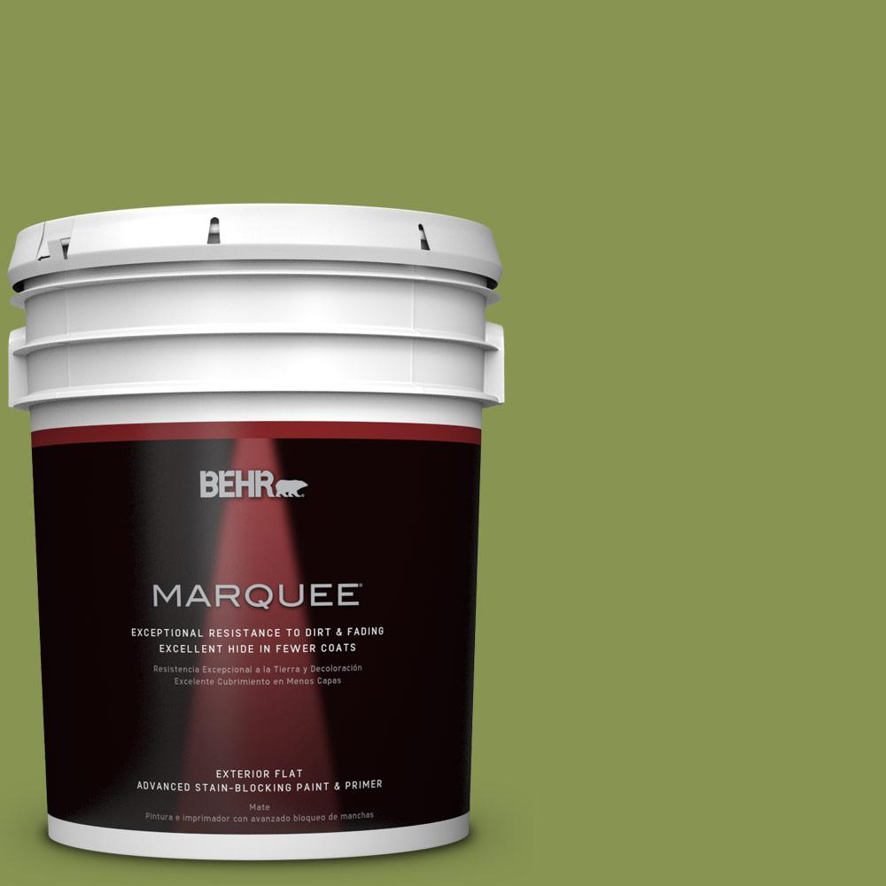 5-gal. #M360-6 Bold Avocado Flat Exterior Paint