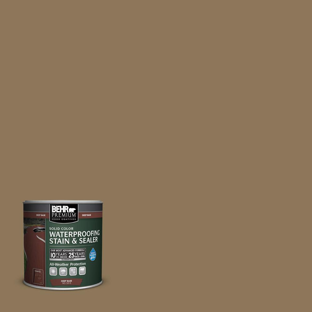BEHR Premium 8 oz. #SC153 Taupe Solid Color Waterproofing Stain and Sealer Sample