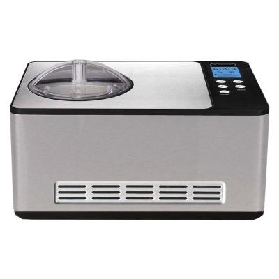 2.1 Qt. Stainless Steel Electric Ice Cream Maker with Built-In Timer and Ice Cream Scoop