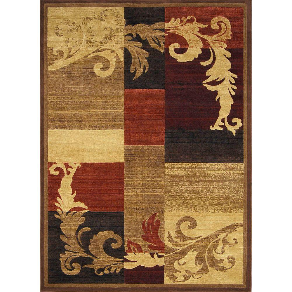 Catalina Brown/Red 5 ft. 3 in. x 7 ft. 2 in.