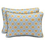 Honeycomb Outdoor Lumbar Pillow (2-Pack)