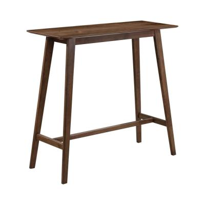 Rec Room Natural Walnut Rectangular Bar Table