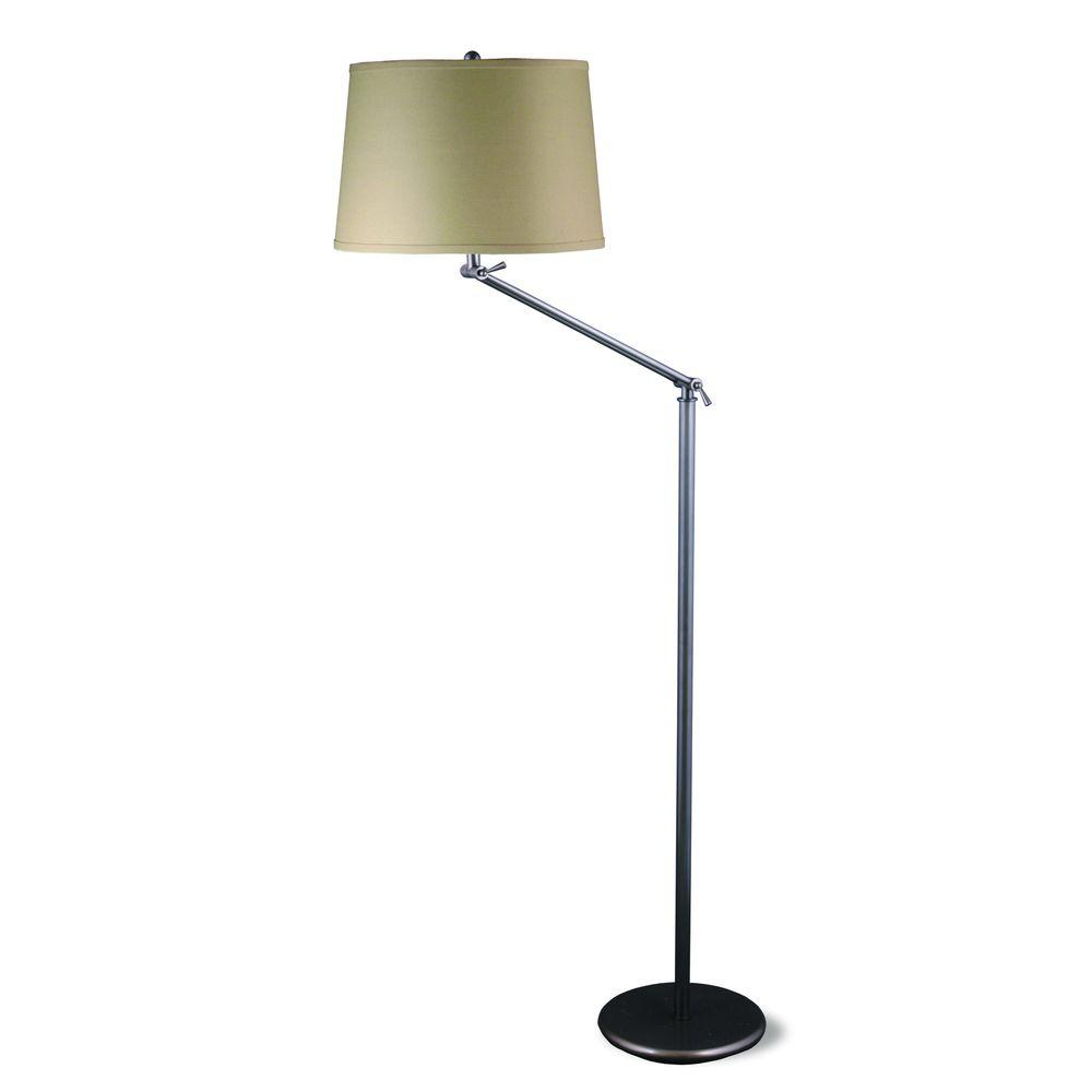 Fangio Lighting 55 - 65 in. Oil-Rubbed Bronze Metal Floor Lamp