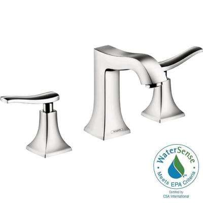 Metris C 8 in. Widespread 2-Handle Mid-Arc Bathroom Faucet in Chrome