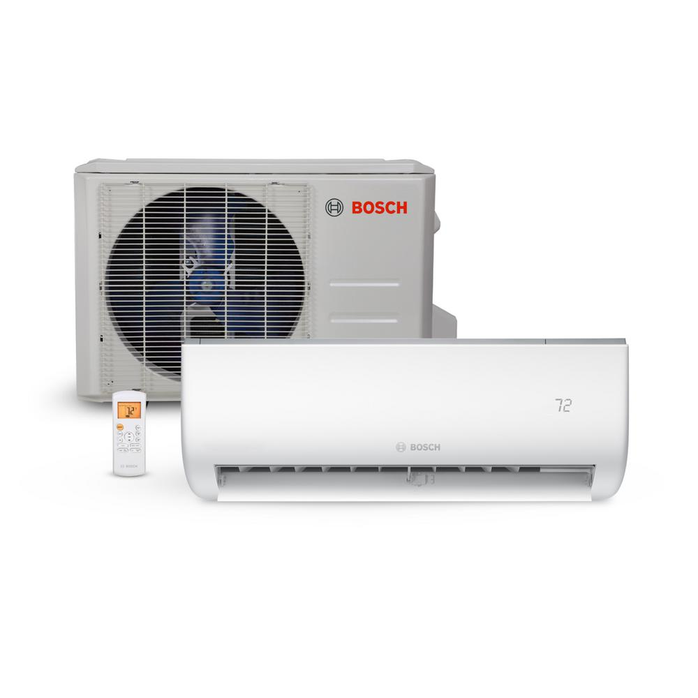 bosch climate 5000 energy star 18 000 btu 1 5 ton ductless mini split air conditioner and heat. Black Bedroom Furniture Sets. Home Design Ideas