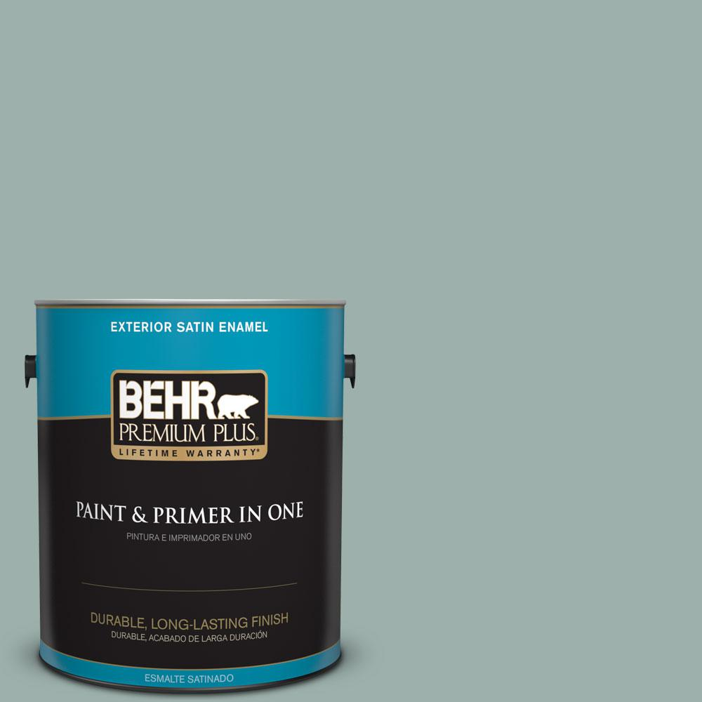 1-gal. #490F-4 Gray Morning Satin Enamel Exterior Paint