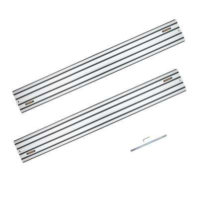55 in. Aluminum Extruded Guide Rail Joining Set Compatible with DeWalt Track Saws