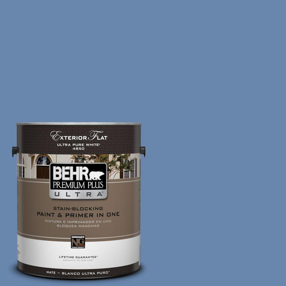 1-gal. #M530-5 Cowgirl Blue Flat Exterior Paint