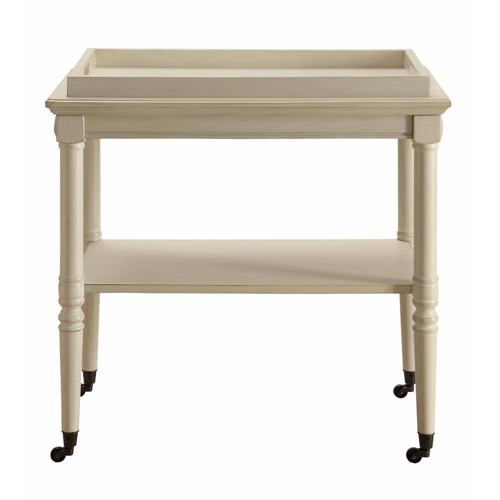 Acme Furniture Frisco Tray Table in Antique White-82908 ...