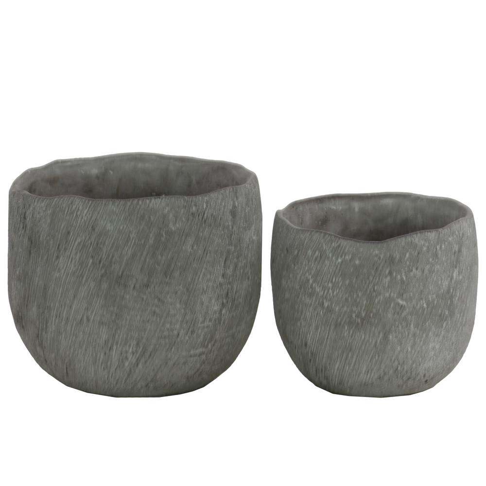 Urban Trend Gray Concrete Cement Decorative Vase