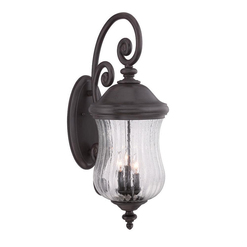 Acclaim Lighting Bellagio 3 Light Black C Outdoor Wall Mount Lantern