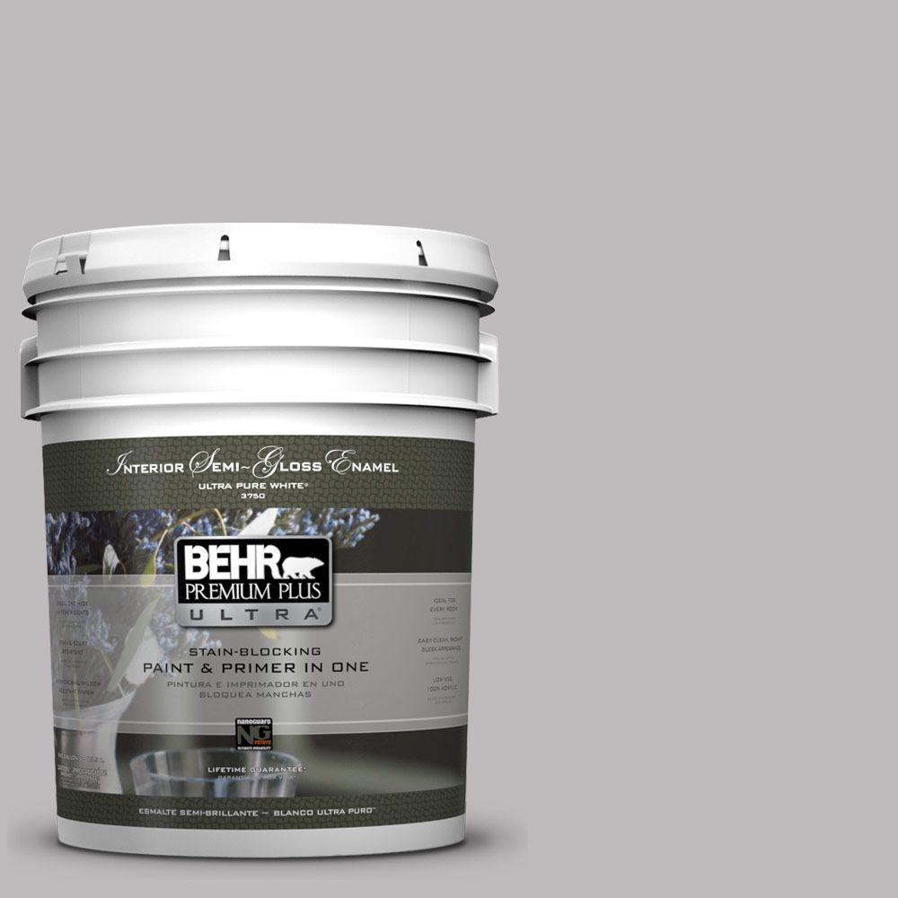 BEHR Premium Plus Ultra 5-gal. #PPU16-11 Grape Creme Semi-Gloss Enamel Interior Paint