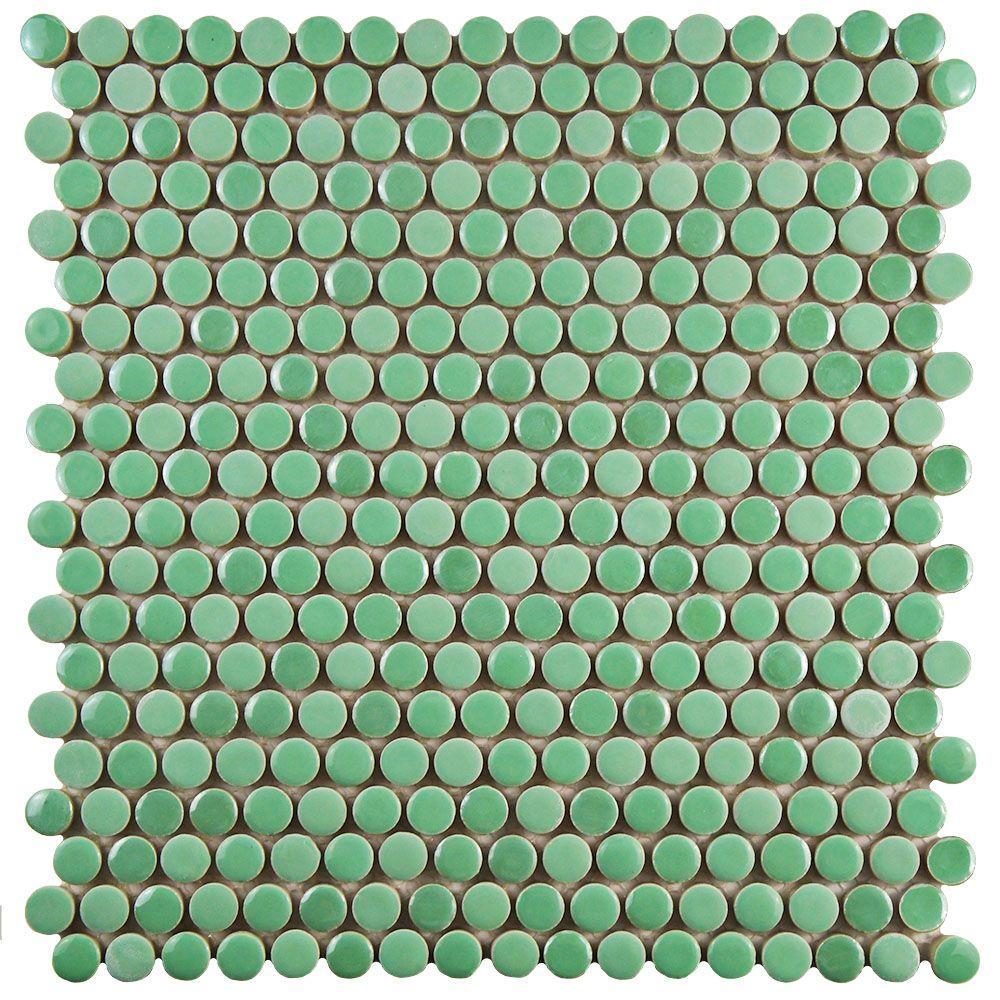 Green Mosaic Tile Tile The Home Depot