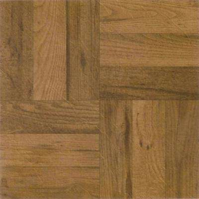 Nexus Medium Oak 12 in. x 12 in. Peel and Stick Three Finger Parquet Vinyl Tile (20 sq. ft. / case)