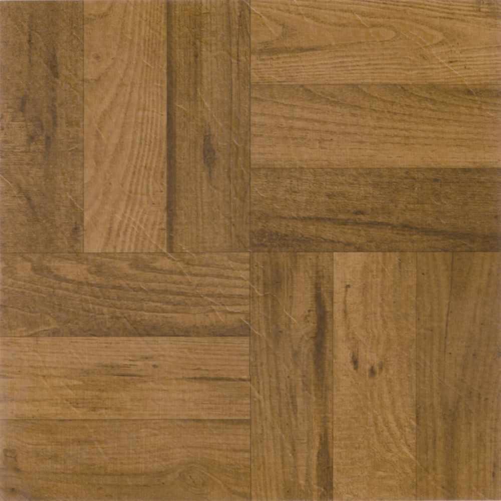 Tivoli Medium Oak 12 in. x 12 in. Peel and Stick Three Finger Parquet Vinyl Tile (45 sq. ft./case)