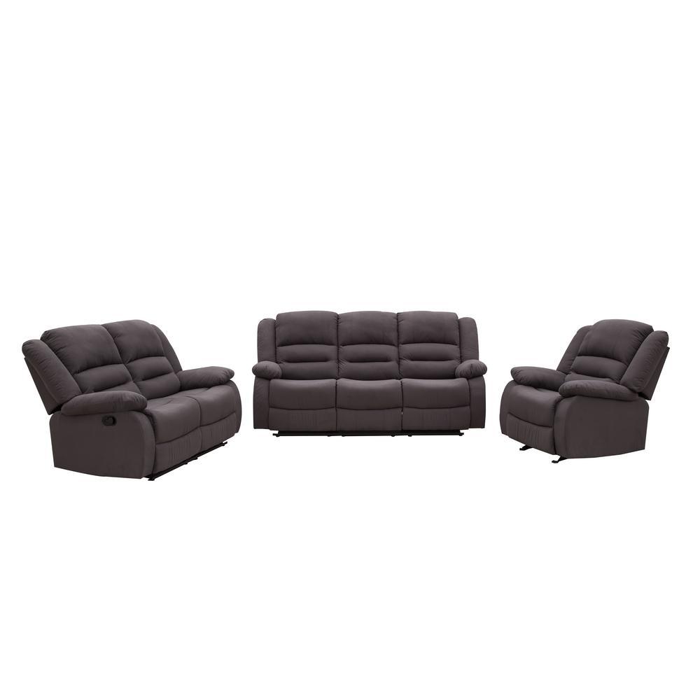 3-Piece Blue Gray Living Room Suite