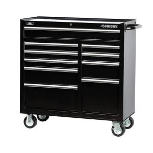 Husky 41 In 10 Drawer Rolling Cabinet Tool Chest In Black