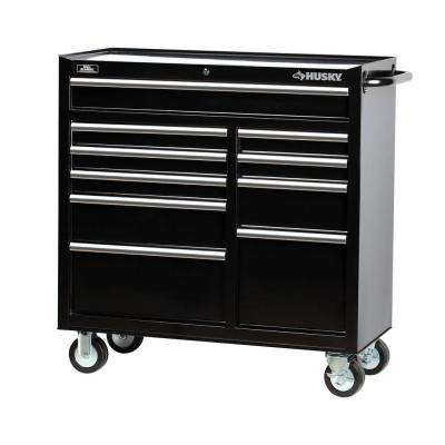 41 in. 10-Drawer Rolling Cabinet Tool Chest in Black