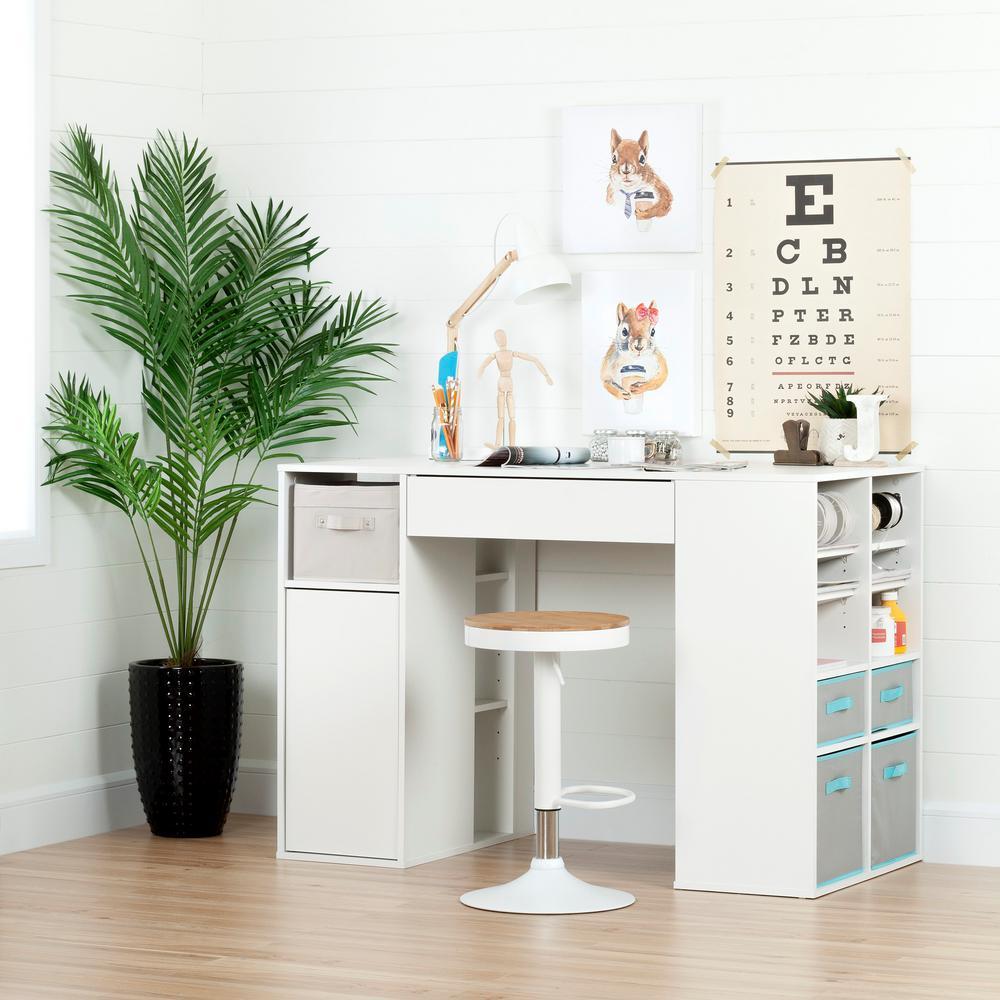 Crea Pure White Desk