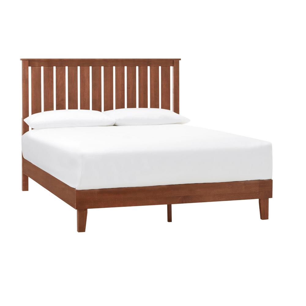 StyleWell Gatestone Walnut Finish King Bed with Vertical Slats (77.17 in. W x 48 in. H), Brown was $401.35 now $240.81 (40.0% off)