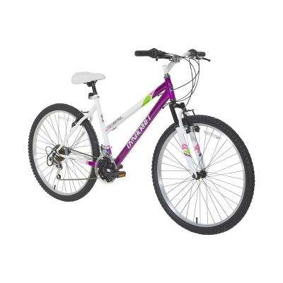 26 in. Alpine Eagle Mountain Bike in White and Purple