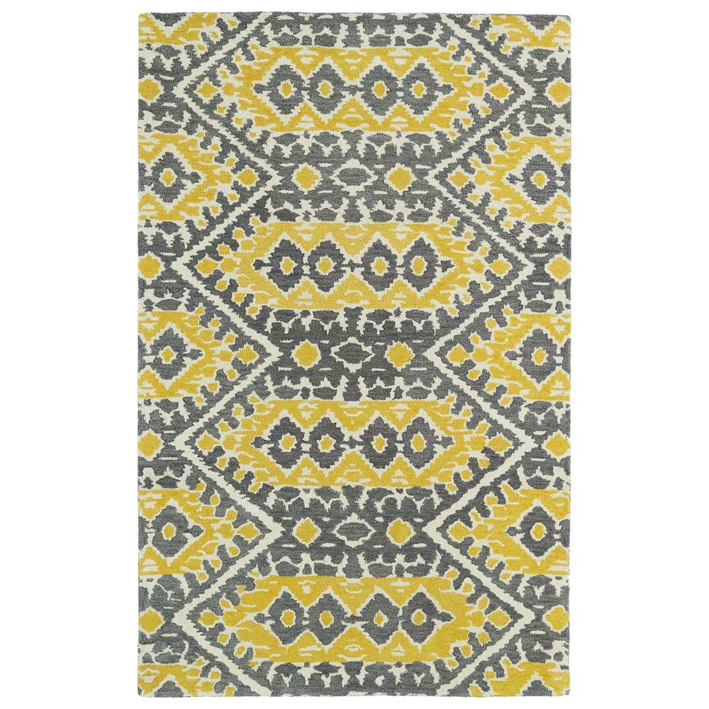 kaleen global inspiration yellow 5 ft x 7 ft 9 in area rug glb01 28 5 x 7 9 the home depot. Black Bedroom Furniture Sets. Home Design Ideas