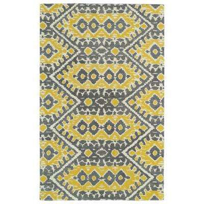 Global Inspiration Yellow 9 ft. x 12 ft. Area Rug