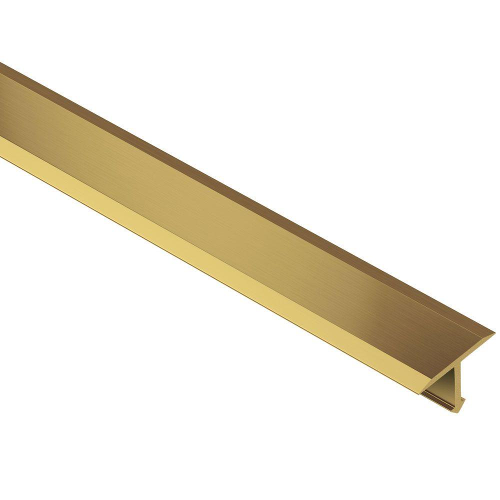 Schluter Reno T Solid Brass 1 In X 8 Ft 2 1 2 In Metal