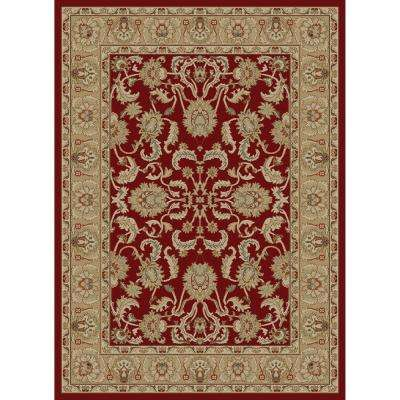 Ankara Oushak Red 3 ft. 11 in. x 5 ft. 5 in. Area Rug