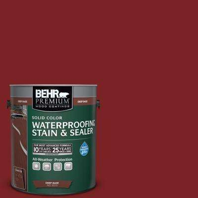 1 gal. #SC-112 Barn Red Solid Color Waterproofing Exterior Wood Stain and Sealer