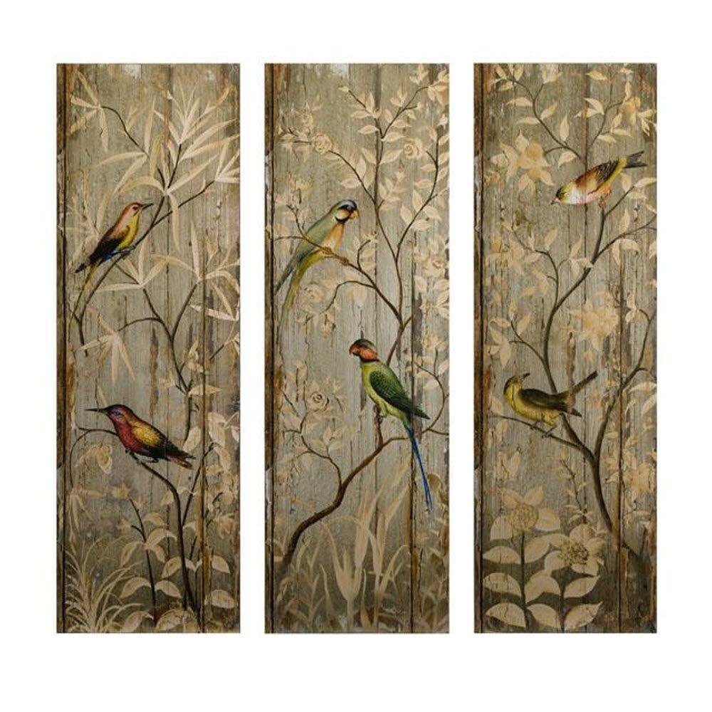 Imax 42 In H Calima Bird Wall Decor Set Of 3 27626 3 The Home Depot