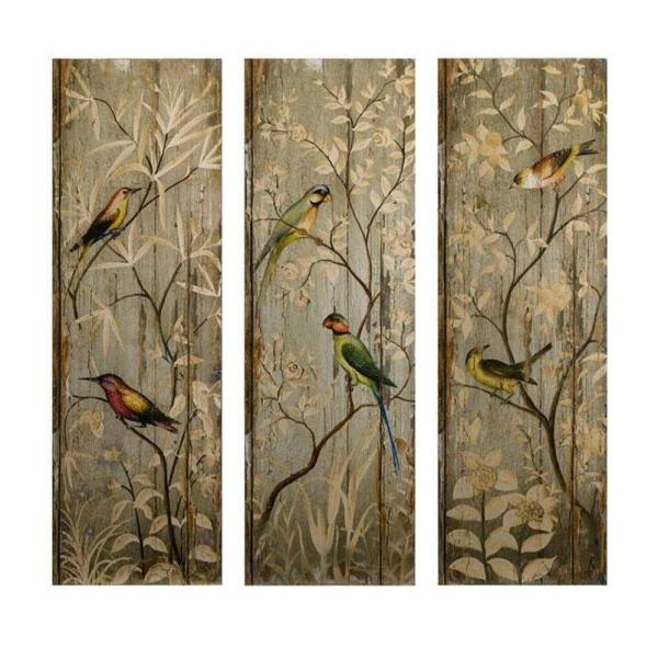 42 In H Calima Bird Wall Decor Set Of 3