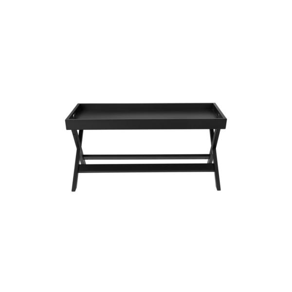 Black And White Coffee Table.Stylewell Rectangular Black Wood Tray Top Coffee Table 40 In W X 18 In H