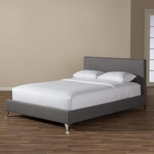 Cool Baxton Studio Harlow Gray Queen Upholstered Bed 28862 7114 Onthecornerstone Fun Painted Chair Ideas Images Onthecornerstoneorg