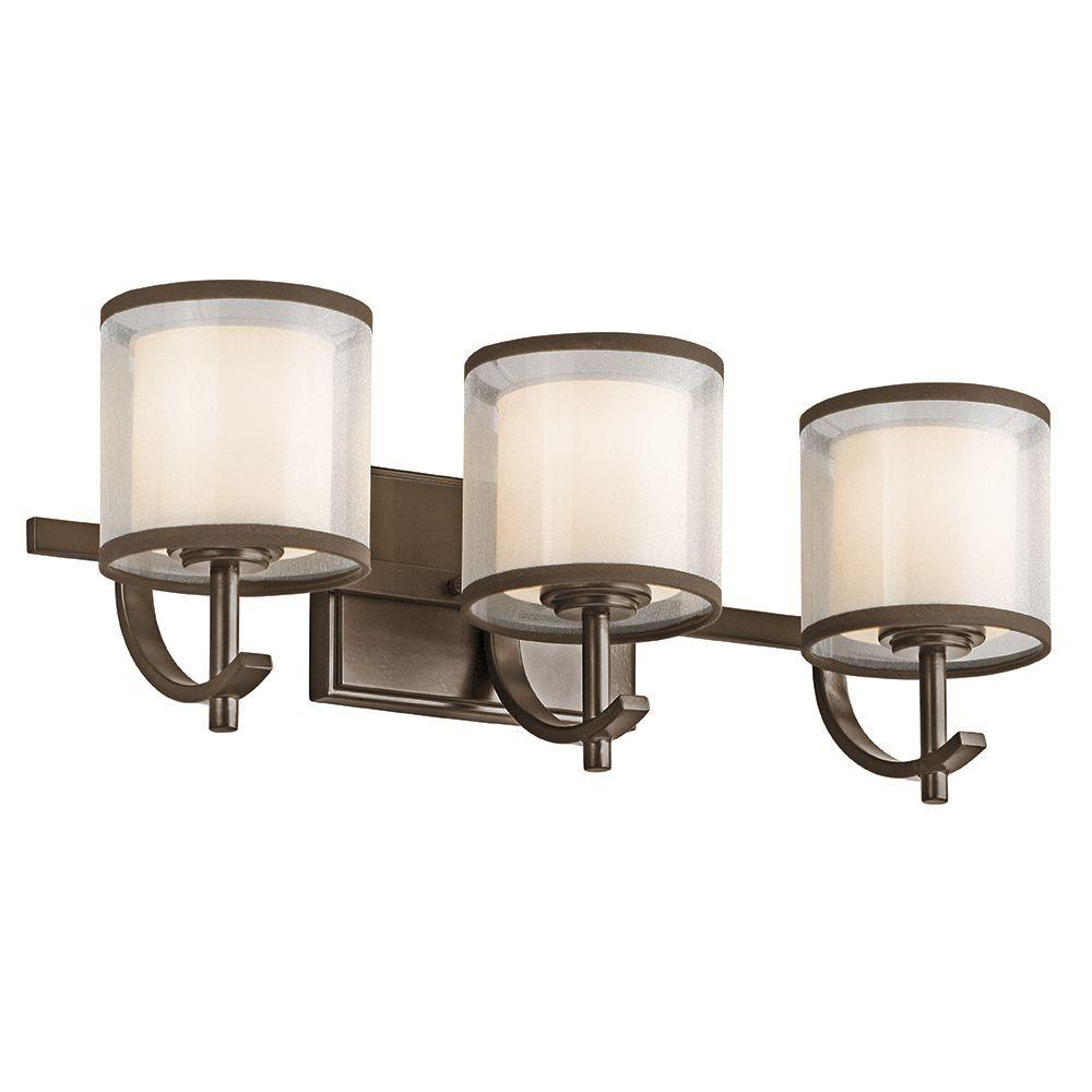 Hampton Bay 3-Light Mission Bronze Wall Vanity Light