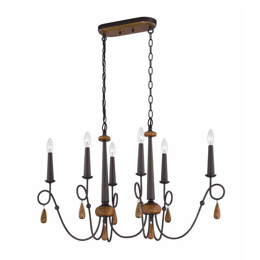 Corso 6-Light Wood Oval Chandelier-25592-016