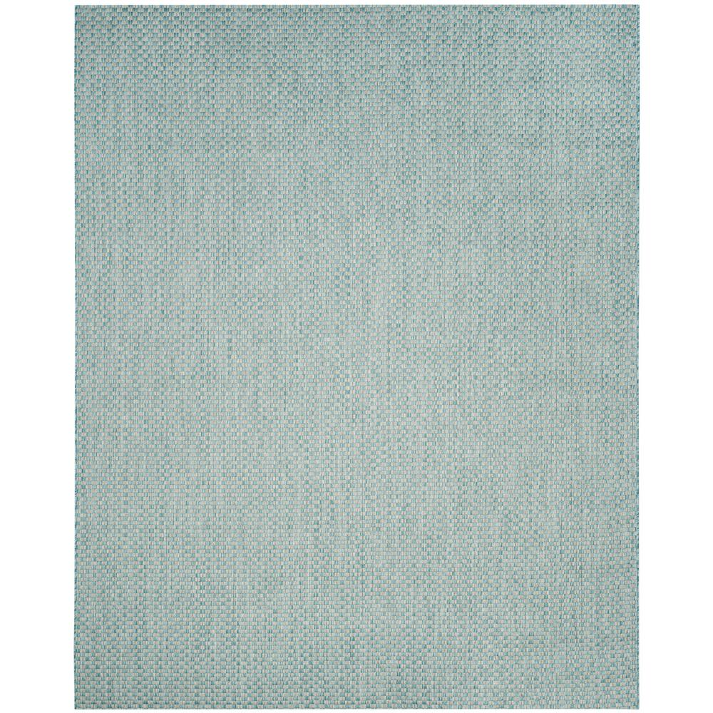 Safavieh Courtyard Light Blue Light Gray 8 Ft X 11 Ft