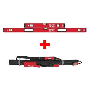 Milwaukee 24 in./48 inch REDSTICK Box Level Set with 48 inch Soft Level Tool Bag by Milwaukee