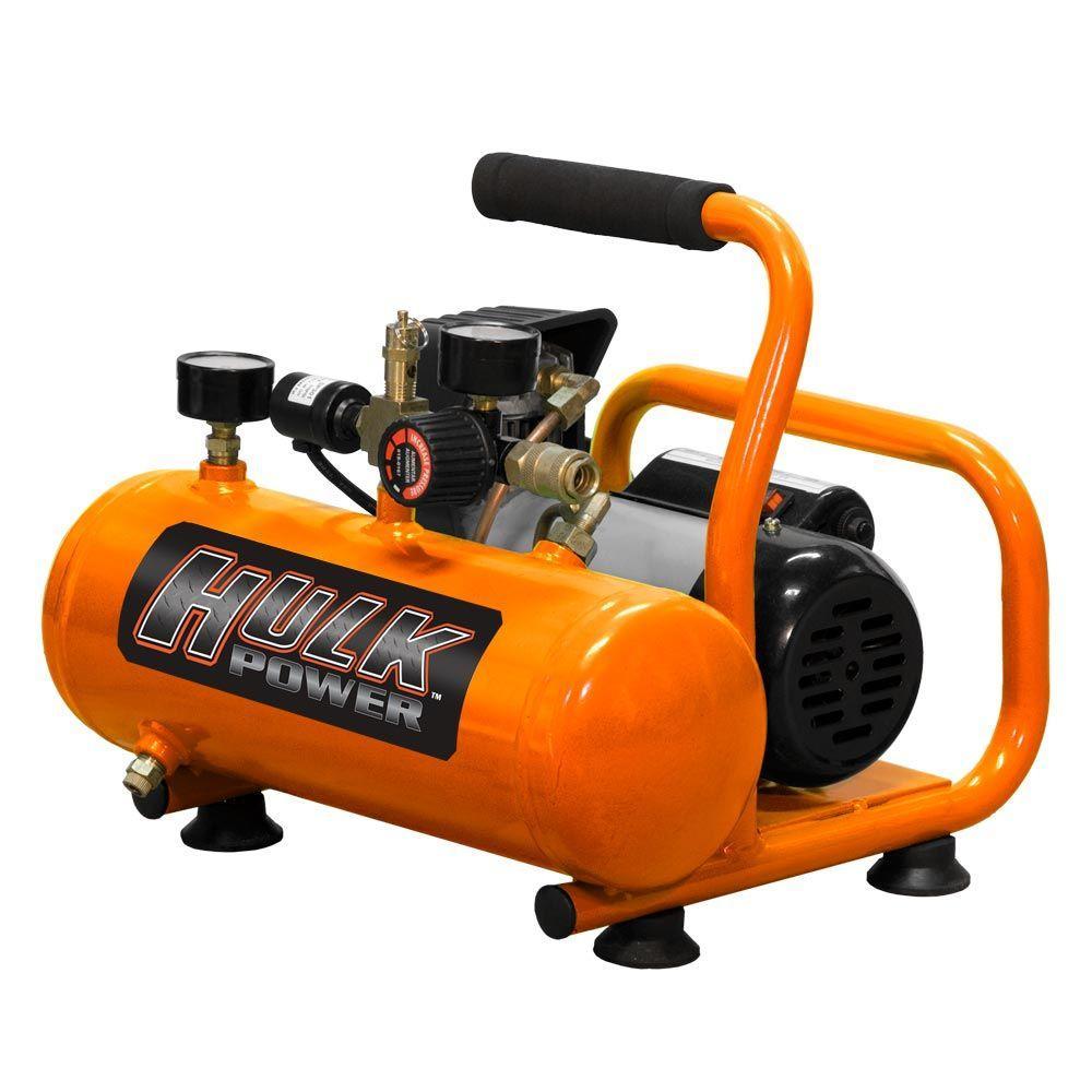 HULK POWER 1.5 gal. 1/2 HP Oil-Less Portable Air Compressor