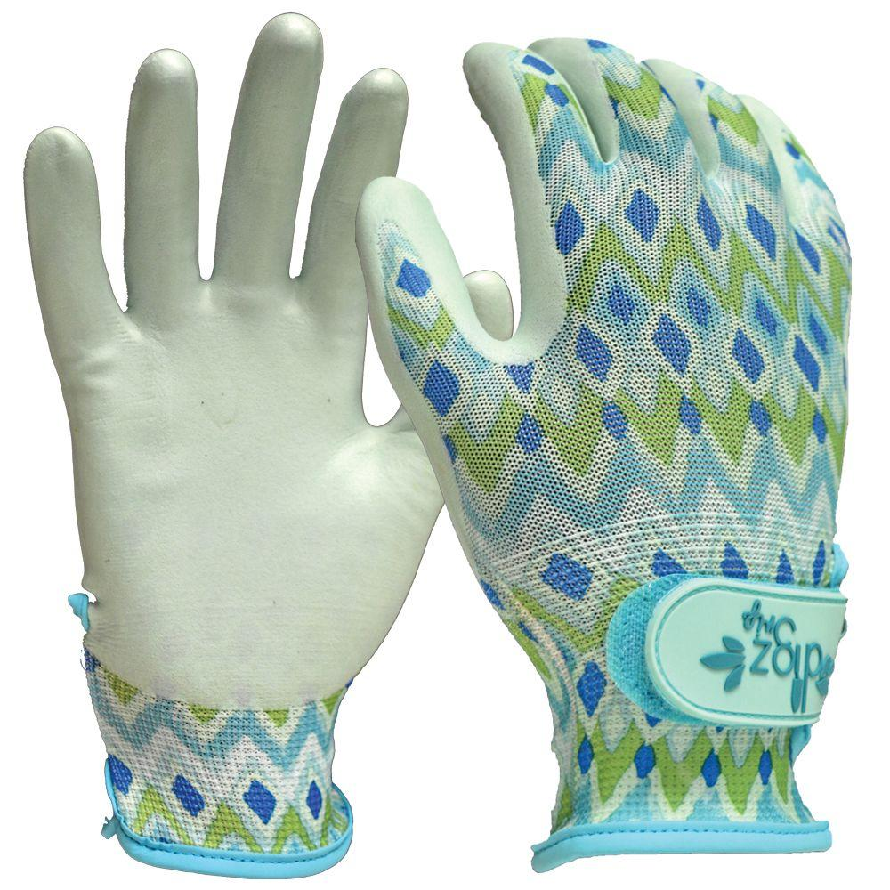 6 or 9 Pack Gloves Size M digz Green Cotton Jersey stretch knit w Knit Wrist 3