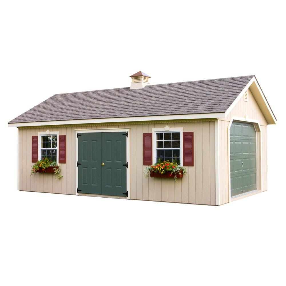 HomePlace Structures 14 ft. x 24 ft. Statesman Garage without Floor