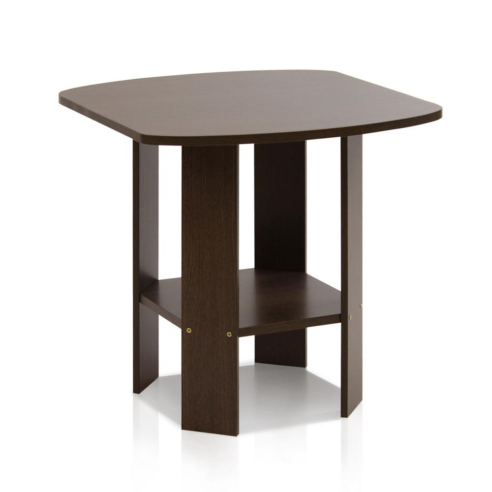 Furinno Simple Design Dark Brown End Table 11180dbr The Home Depot