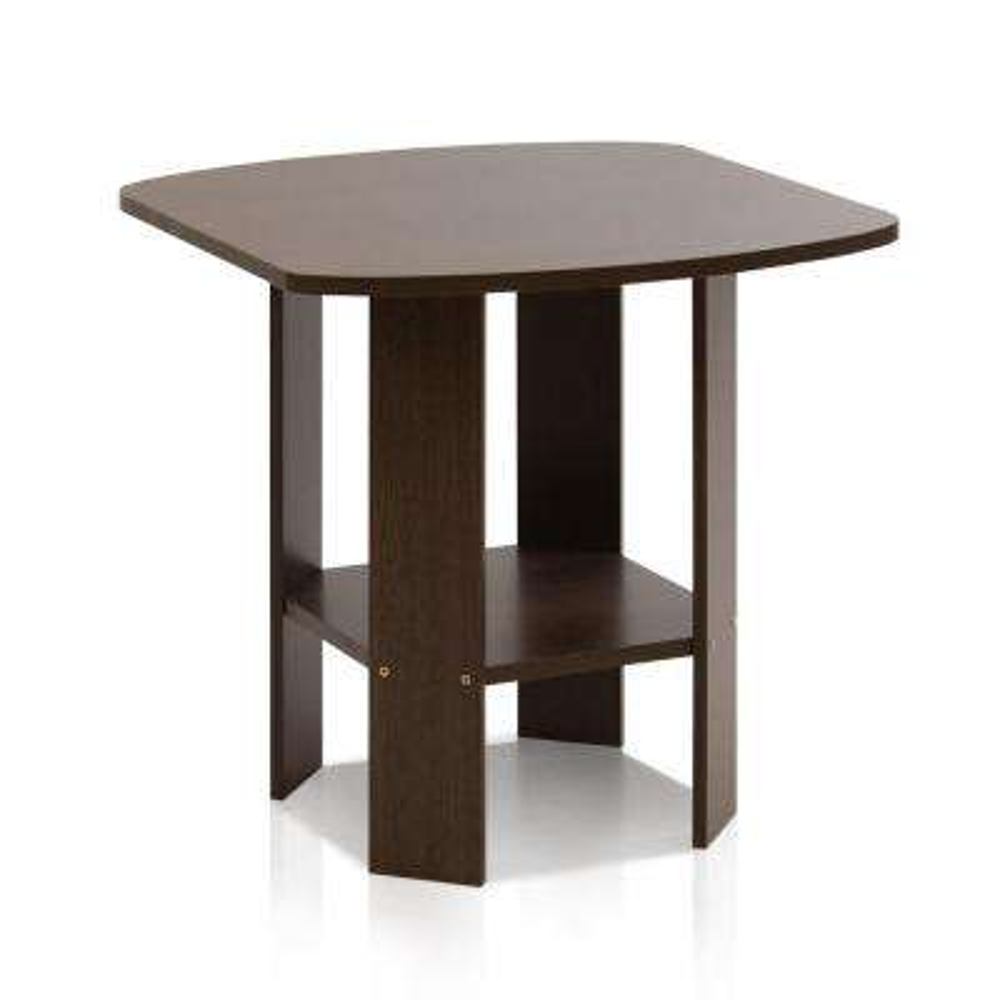 Simple Design Dark Brown End Table (2-Set)