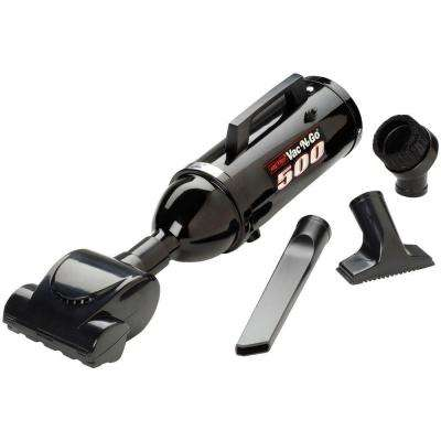 Popular Demand Vac 'N' Go 500-Watt, with Turbine Brush High Performance Hand Vac in Black
