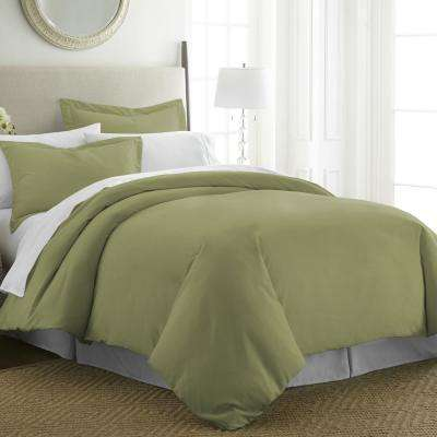 Performance Sage Queen 3-Piece Duvet Cover Set